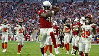 Cardinals y Browns en partido de la NFL