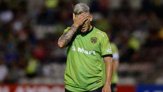 Gabriel Hachen se lamenta en un partido con Juárez