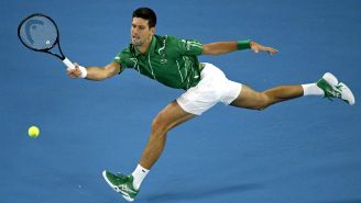 Djokovic en partido del Abierto de Australia