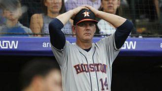 A.J. Hinch lamenta una falla de los Astros