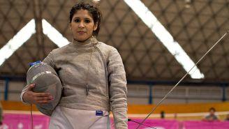 Paola Pliego, en una competencia en 2014