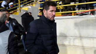 Diego Simeone después de la derrota ante Cultural Leonesa