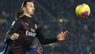 Zlatan Ibrahimovic como jugador del Milan en su segunda etapa