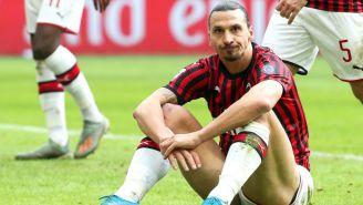 Zlatan en partido de la Serie A