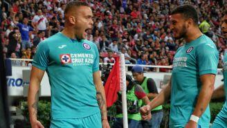 Rodríguez celebrando su anotación ante Chivas
