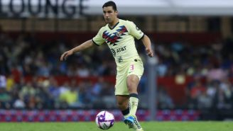 Jorge Sánchez durante un partido con América