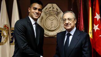 Florentino Pérez presentó a Reinier en el Real Madrid