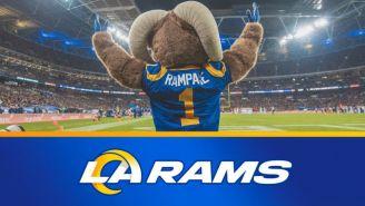 Mascota de Rams en celebración