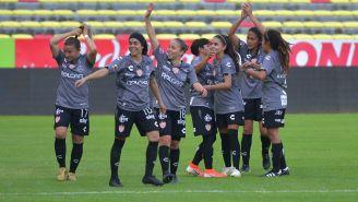 Necaxa Femenil en partido de la Liga