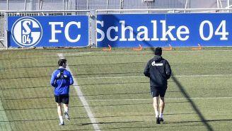 Jugadores del Schalke 04 en una práctica
