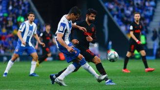 Acción de un juego entre Espanyol y Atlético de Madrid