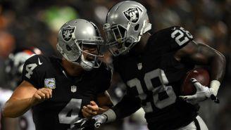 Raiders en partido contra Texans