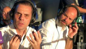 Christian Martinoli y Luis García, colaboradores de RÉCORD