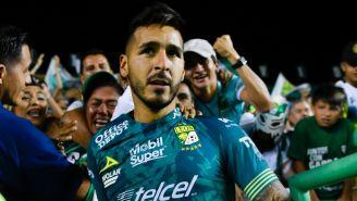 Ismael Sosa durante un partido con León