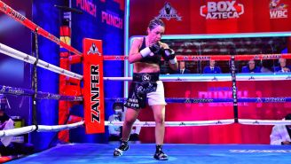 Jackie Nava previo a una pelea