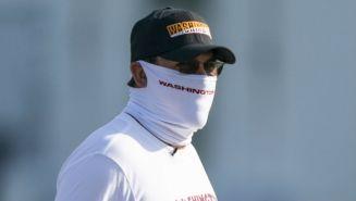 El entrenador de Washington, Ron Rivera, en práctica