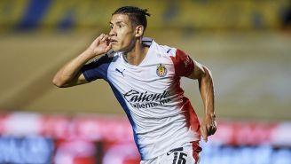 Chivas: Uriel Antuna festeja un gol
