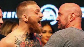 McGregor y White en una conferencia de prensa