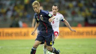 Acción en el México vs Japón de la Copa Confederaciones de Brasil 2013