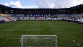 Estadio Hidalgo previo a un partido de Liga MX