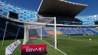 Estadio Cuauhtémoc previo a un partido de Liga MX Femenil