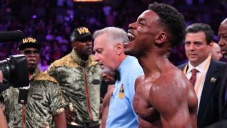 Errol Spence en pelea de box