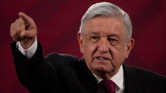 López Obrador durante una conferencia de prensa