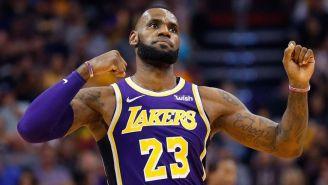 LeBron James durante un compromiso con Los Angeles Lakers