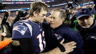 Tom Brady junto a Bill Belichick