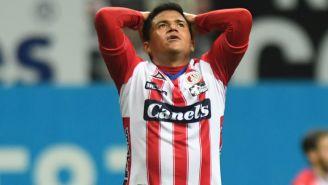 Juan Castro se lamenta tras una acción