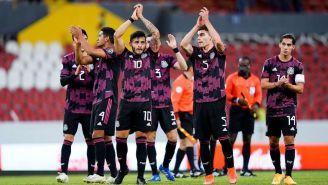 México en celebración de gol