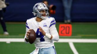 Dak Prescott en acción con los Dallas Cowboys
