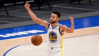 Stephen Curry durante un partido con los Warriors