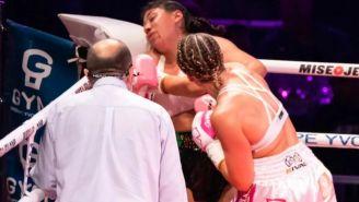 Jeanette Zacarías en la pelea contra  Marie Pier Houle