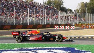Checo Pérez en prácticas del GP de Italia