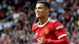 Cristiano Ronaldo en su primer partido del Manchester United