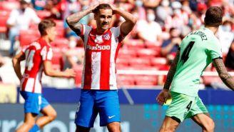 Griezmann en el partido entre el Atlético de Madrid y el Athletic