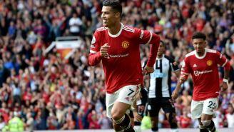 Cristiano Ronaldo en su debut con Manchester United