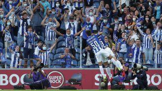 Jugadores del Porto, en festejo de gol