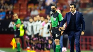 Marcelo Michel Leaño durante un partido con Chivas