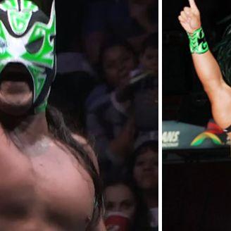 Gran Guerrero en una lucha en la Arena México