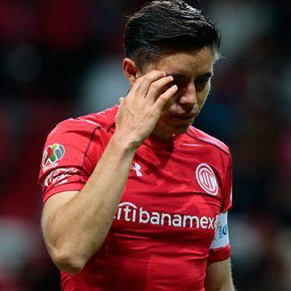 Efraín Velarde después del partido contra Toluca