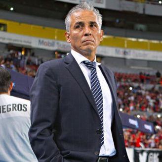 Sergio Bueno en su último partido como estratega de Jaguares