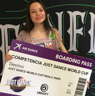 Ariadna, tras ganar el concurso de Just Dance 2018