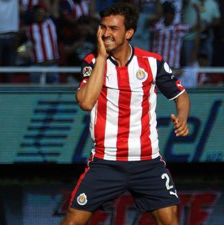Oswaldo Alanís, durante un juego con Chivas