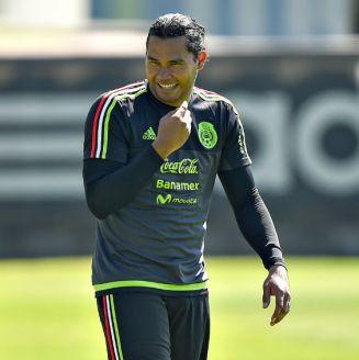 Gullit Peña, durante un entrenamiento con el Tri