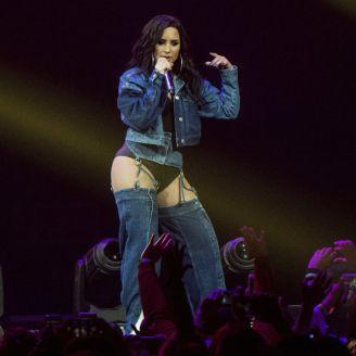 Demi Lovato, durante un concierto de Navidad