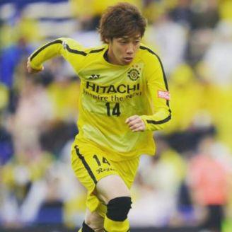 Junya Ito disputa un juego con el Hitachi Kashiwa Reysol