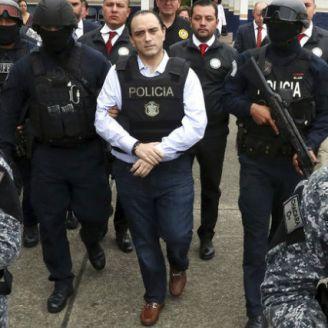 Roberto Borge en su extradición a México