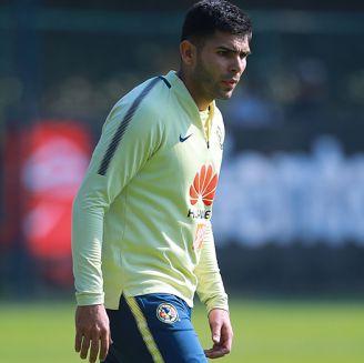 Silvio Romero, durante un entrenamiento de América